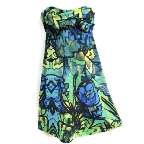 f24d5cb1daa BECCA Dresses   Floral Bandeau Dress Bra Tie Back S   Poshmark